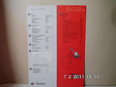 Business & Industrie UnabhäNgig Neuson Kompaktbagger 50z3 Prospekt/broschÜre 2seiten Alt&rar Baugewerbe
