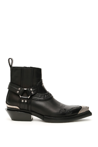 NEW-Balenciaga-santiag-harness-boots-579630-WA921-Black-Nikel-AUTHENTIC-NWT