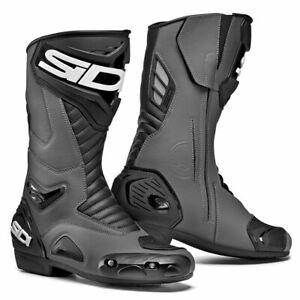 Sidi-Performer-CE-Motorbike-Motorcycle-Boots-Grey-Black