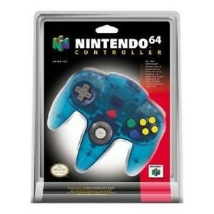 Nintendo-64-Controller-Ice-Blue-Great-Condition-Fast-Shipping