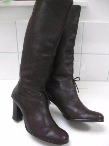 Steampunk in al alti pelle marrone 5 Victorian donna ginocchio Retro Carvela Uk taglia Stivali wxn7w