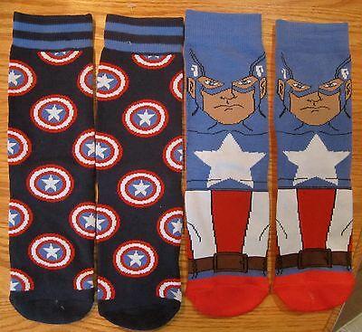 Captain America Civil War Boys Athletics Socks 2 PAIRS Marvel Comics SZ 3-5 New