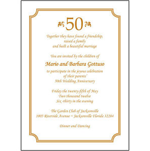 Perfect Image Is Loading 25 Personalized 50th Wedding Anniversary Party Invitations  AP