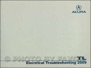 Details about 2009 Acura TL Electrical Troubleshooting Manual NEW Original on