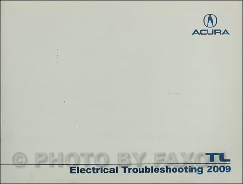2009 Acura TL Electrical Troubleshooting Manual NEW Original Wiring Diagram Book