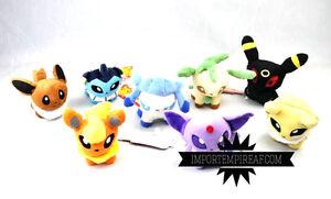 Pokemon Evoli Évolutions 8 Peluche Center Espeon Umbreon Glaceon Plush Sylveon