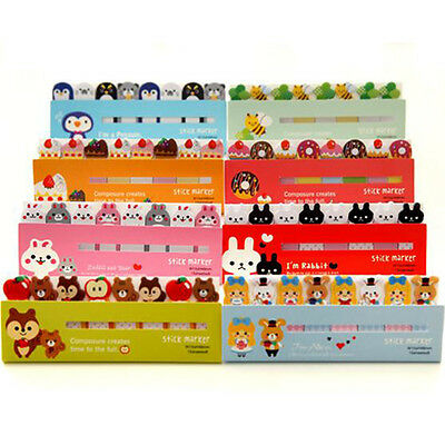Lovely Sticky Notes Post It Pads Bookmarker Memo Animal Design 120 Pages Gift