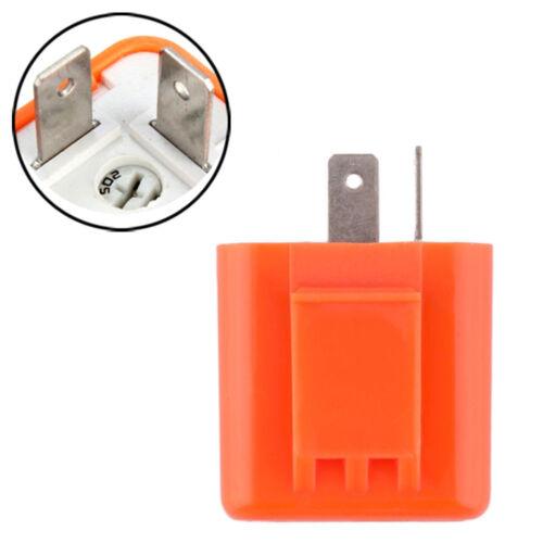 2pin 12V Turn signal Flasher Blinker Relay fix DC Motorcycle LED Indicator Light