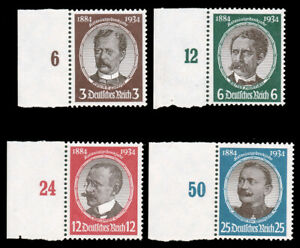 Germany-1934-LOST-COLONIES-SET-MNH-432-35-CV-154-00-Michel-540-43-EUR190-00