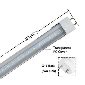 Details About 25pack 4 Foot 48 Inch T8 Direct Led Fluorescent Replacement Lighting Tubes Bulbs