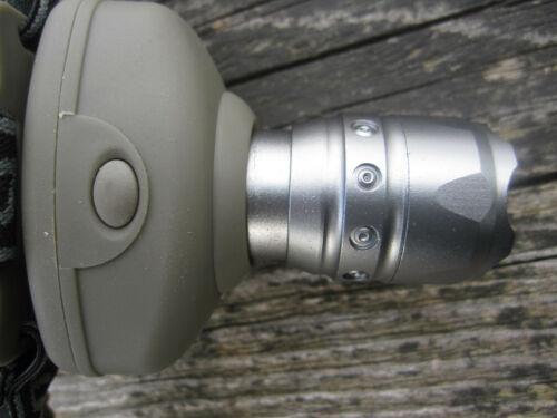 Aluminium Cree Zoom Kopflampe 250m Leuchtweite Stirnlampe Focus Lampe von Sturm