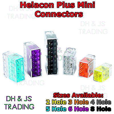 5 Way Electrical Push Connector Wire Cable Block Terminal HELACON Mini Wire