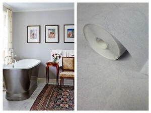 Bathroom Wallpaper Mid Grey Marble, Vinyl Bathroom Wallpaper