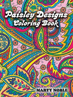 Paisley Designs Adult Colouring Book Art Therapy Creative Relaxing Patterns NEW