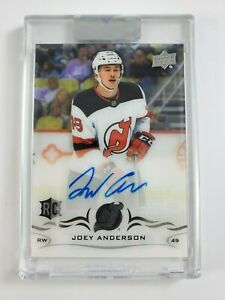 2018-19-Upper-Deck-Clear-Cut-Rookie-Joey-Anderson-Auto-CCR-AN-Devils