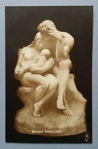 Old-Postcard-Sculpture-Plastic-Statue-Bertrand-Ehegluck
