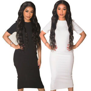 Short-Sleeved-Tall-Bodycon-Midi-Dress-Black-White-Size-8-14