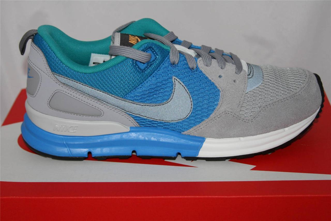 NEW MENS NIKE LUNAR PEGASUS 89 RUNNING SHOE SIZE 11 GREY/BLUE/GREEN 599472018