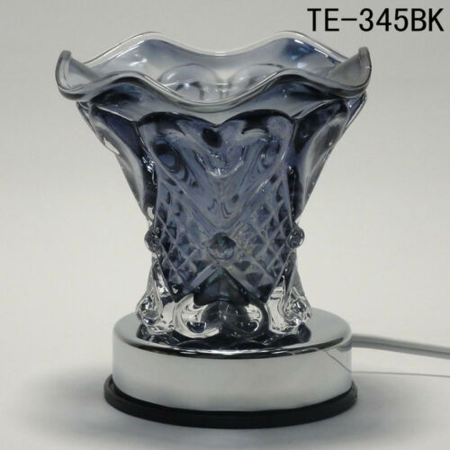 Glass Electric Heart Scent Oil Tart Fragrance Touch Lamp Diffuser Warmer Burner