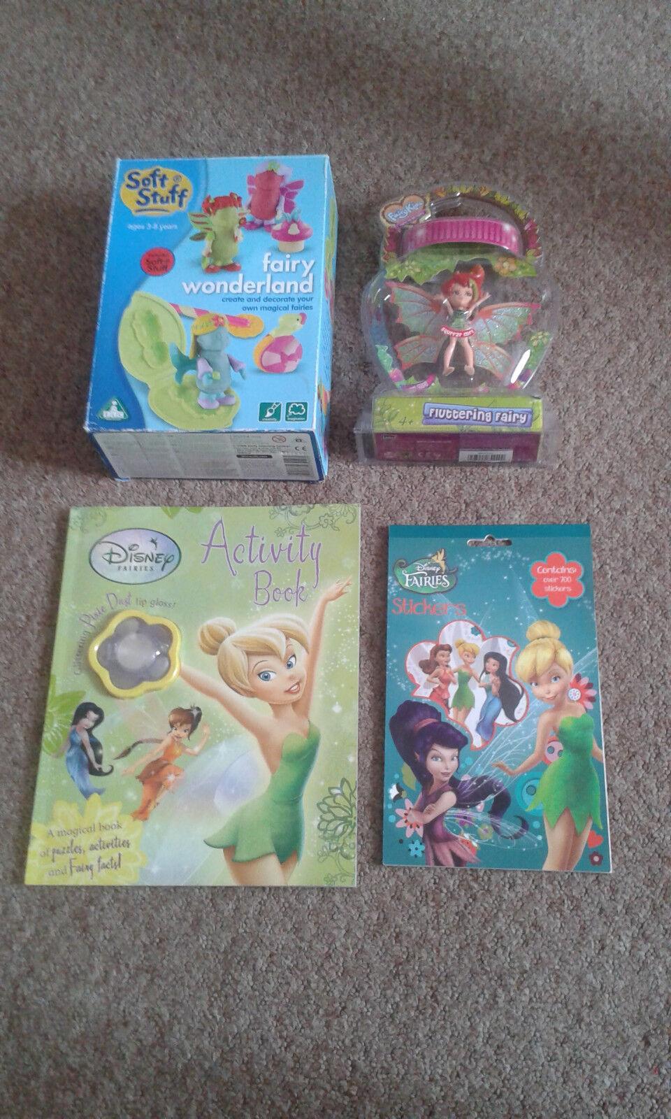 Girls Toy Soft Stuff Playdoh Fluttering Fairy Wonderland Tinkerbell ELC BUNDLE