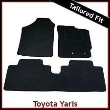 TOYOTA YARIS Mk2 / XP90 2006-2011 Tailored Carpet Car Floor Mats BLACK