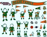 University Miami Um Hurricanes Family 28 Pc Car Decal Sticker Pack Cheapest