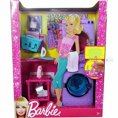 Mattel barbie glam mobili per lavanderia set x7938 for Regalo i mobili
