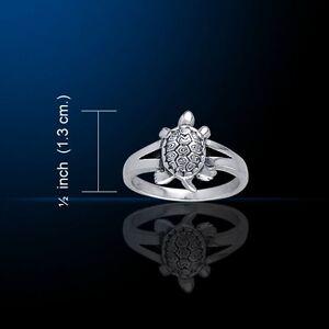 Schildkröte .925 Sterlingsilber Ring von Peter Stein Schmuck