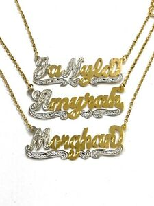 14k Gold Overlay Personalized Name