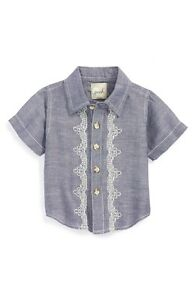0af1becfe Peek Infant Boy s  Copacabana  Embroidered Linen   Cotton Chambray ...
