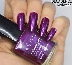 Avon-Nailwear-Pro-Plus-Nail-Enamel-Varnish-Polish-039-DECADENCE-039-shade-NEW-BOX