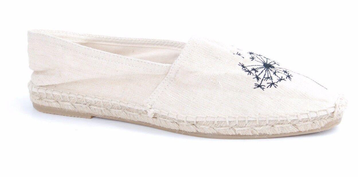 La vieja casa casa casa Unisex Impresiones blancoo de diente de león Alpargatas UK 4.5   BCF511  compras online de deportes