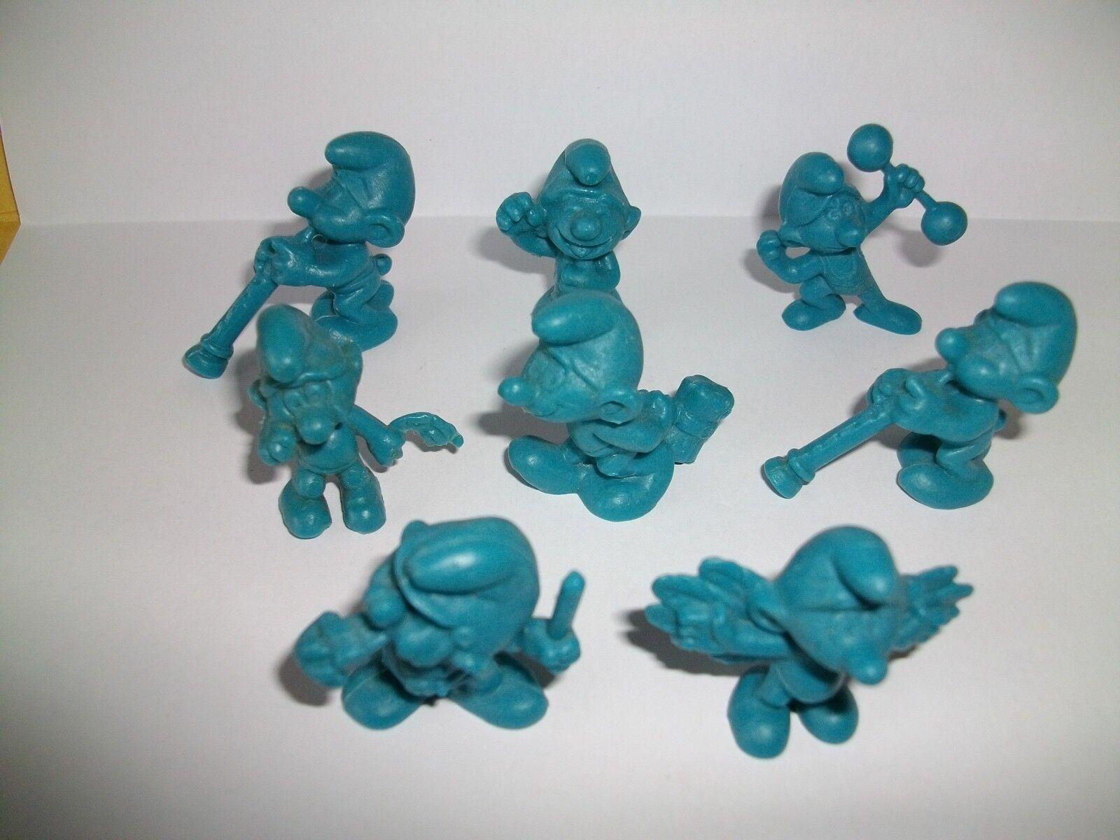 SMURF SCHLUMPF SCHTROUMPF LOT DE 8 MINI SCHTROUMPFS blueS PAS OMO