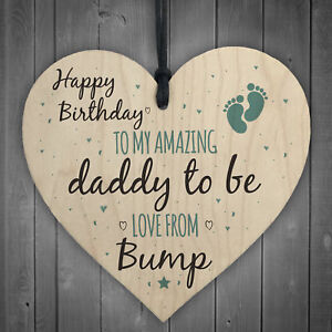 Image Is Loading Daddy To Be From Bump Happy Birthday Wood