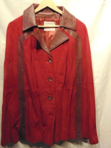 Woman's Cape Red Suede and Leather