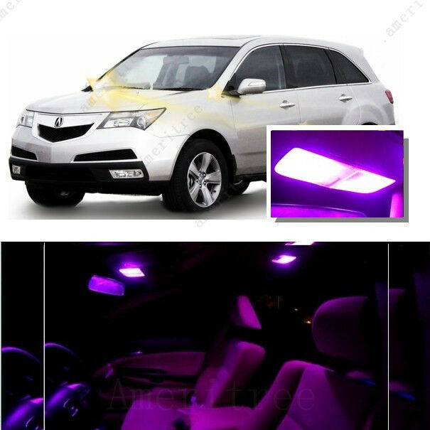 For Acura MDX 2007-2009 Pink LED Interior Kit + Pink