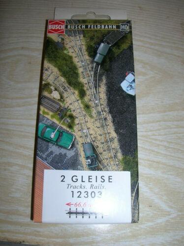 Busch Feldbahn HOf  12303 je 66,6 mm 2 gerade Gleise