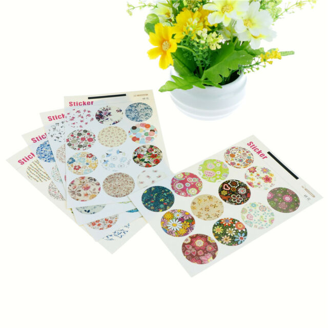 60pcs Floral Paper Label Sticker Seal Stickers for DIY Gift Cookie Packaging  JF
