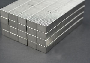 "25 SQUARE MAGNETS 3/4"" x 1/2 x 1/16 STRONGEST N52 Neodymium - US SELLER"