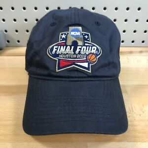 NCAA-Final-Four-Basketball-Houston-2016-Navy-Blue-Hat-Strap-Back-EUC-Low-Pro-Cap