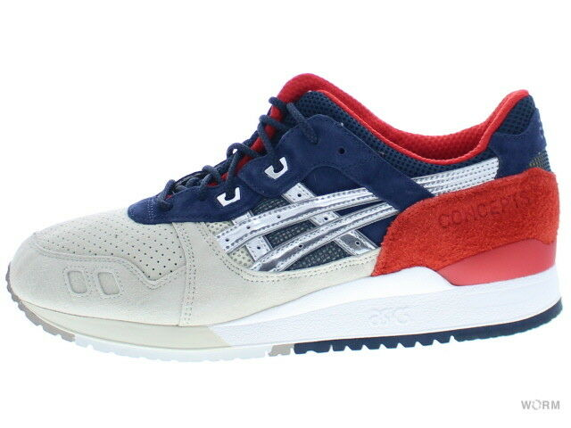 Asics GEL-LYTE III  CONCEPTS  h50tk-9394 red bluee gold 3 Size 12