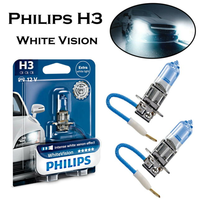 2x Philips H3 55W 12V 12336WHVB1 Nebelscheinwerfer Intensiv Weiß Birne E-geprüft