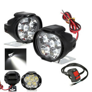 Universal-Spotlight-LED-Motorcycle-Headlight-Mirror-Mount-Fog-DRL-Switch-Set