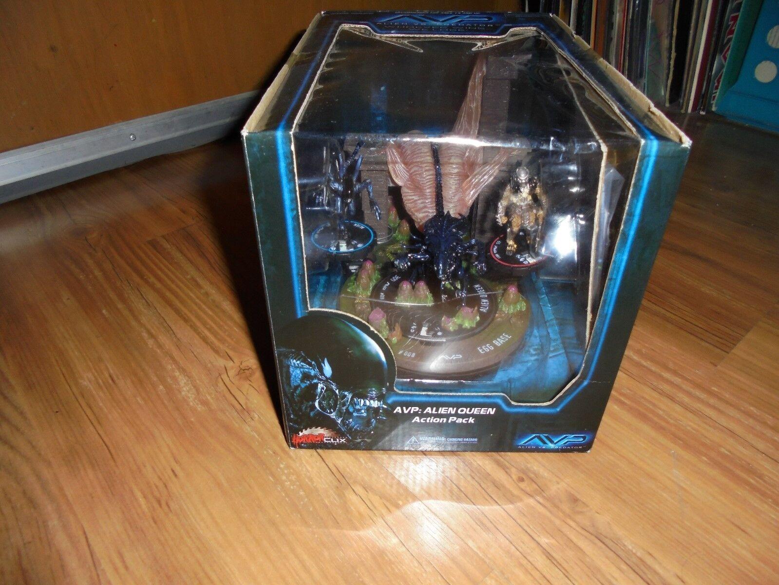 Avp alien vs. protator  alien queen  action - figuren spiel wizkids 2007