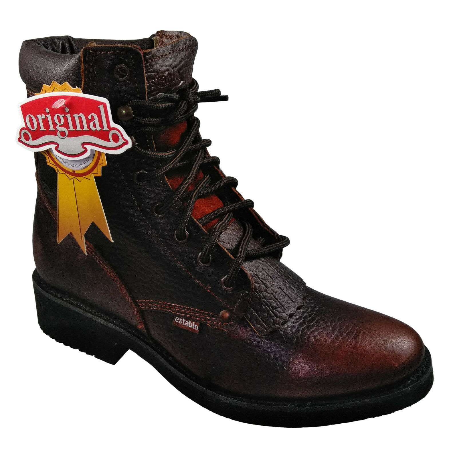Men's Work Ankle Boots Establo Bull Fight color Honey
