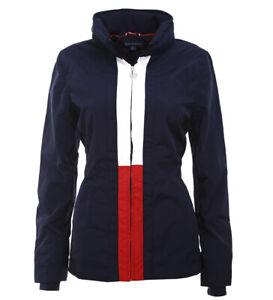 best online shopping exquisite style Details zu Tommy Hilfiger Damen Windbreaker Jacke Übergangsjacke mit Kapuze  navy