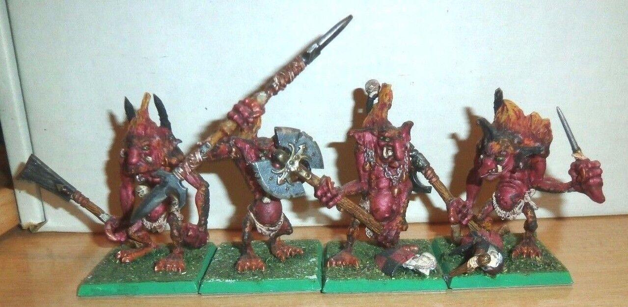Warhammer fantasi Orcs och Goblins 4 METAL FIRE CHOS Troll årgång SIGMAR D &D