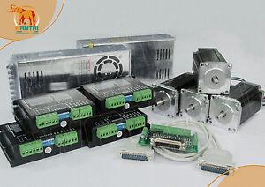 EU-amp-DE-4axis-Nema23-Stepper-Motor-270oz-in-190N-cm-3-0A-Driver-DQ542MA-50V-627