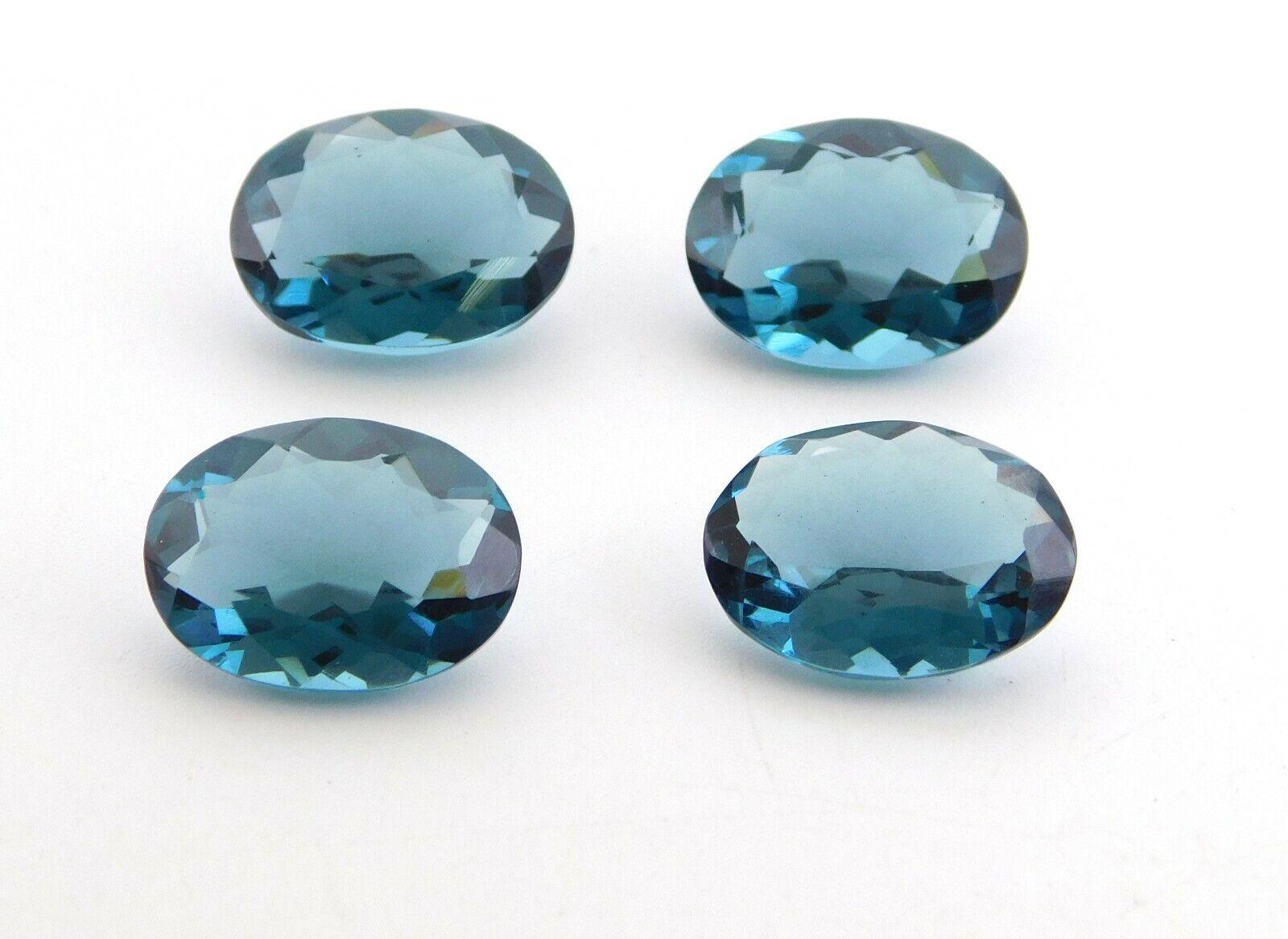15 X 20 MM Oval Good Quality Hydro London Blue Topaz Cut Loose Gemstones P-703
