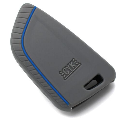 Funda clave BD aschgrau//azul de silicona protección llaves del coche cover control remoto